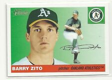 Barry Zito 2004 Topps Heritage GREEN JERSEY Variation SP Card #342