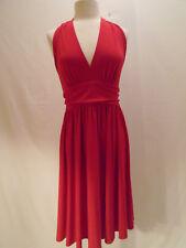 Moda International  Womens Red Halter Dress Size Medium