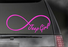 "JEEP GIRL Infinity Decal, CAR,TRUCK/ Window sticker! 2.5"" x 6""  JEE-00001"