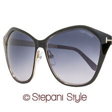 Tom Ford Butterfly Sunglasses TF391 Lena 05B Black/Gold FT0391