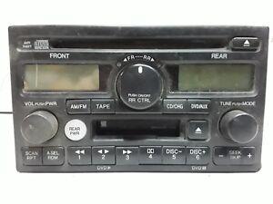 02 03 04 Honda Odyssey AM FM CD cassette with rear controls OEM 39100-S0X-A500