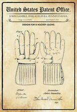 US Patent Hockey Handschuh Glove 1915 Blechschild Schild Tin Sign 20 x 30 cm