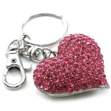 Mother's Day Valentine's Day Gift Love Pink Heart Car Keychain Key Ring Charm q1