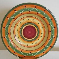 PIER 1 ETRUSCO RIMMED SOUP PASTA BOWL ITALY HAND PAINTED EARTHENWARE