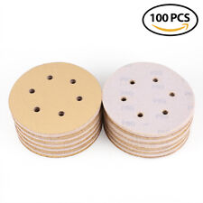100x 6'' Sanding Discs 80 Grit Sandpaper Hook Loop Orbit Sander Sheets Pads