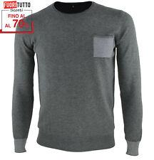 Maglione uomo slim fit invernale pullover girocollo maglioncino sottile RDV