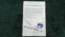 LIONEL # 152 CROSSING GATE INSTRUCTIONS PHOTOCOPY