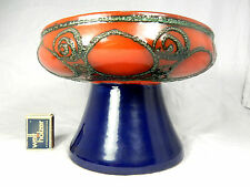 Schöne 70´s GDR design STREHLA  Keramik Fuss Schale  beautiful footed bowl 24 cm