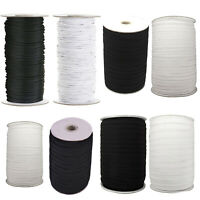Black White Elastic Cord Stretchable Band for Sewing Skirt Trousers Trim Work