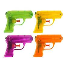 SET OF 4 WATER PISTOLS GUNS - KIDS SUMMER TOY GARDEN BEACH HOLIDAY GIFT