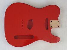 FIESTA RED TELECASTER style GUITAR BODY 3 piece Alder Wood