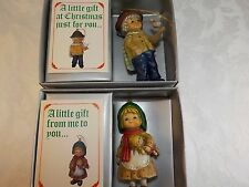 Boy & Girl Christmas Ornaments A Little Gift at Christmas Just For You 1983