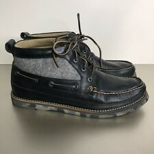 SPERRY Top-Sider Barneys Black Gray Leather Camo Boat Chukka Ankle Boot Men 11.5