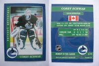 2015 SCA Corey Schwab vancouver canucks goalie never issued produced #d/10
