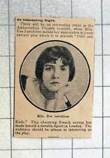 1915 Ambassadors Theatre, Mlle Eve Lavalliere Charming French Actress