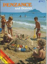 PENZANCE 1987 Official Holiday Guide & Street Map illustrated & adverts Cornwall