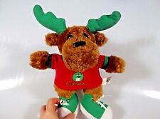 "M & M Moose Plush Stuffed Animal by Galerie 11"" Green Antlers Sneakers"