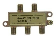 Cable tv splitters 4 way lot of 5 For cable or antenna use New 5-900 Mhz F/S