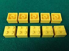 LEGO (3003) 2x2 - GIALLO GELB YELLOW , 10 Mattoncini Brick Basic Steine