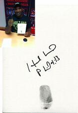 Evander Holyfield SIGNED Original Thumb Print Boxing Photo Proof AFTAL UACC RD
