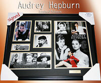 ON SPECIALS!! AUDREY HEPBURN MEMORABILIA SIGNED FRAMED, LIMITED EDITION w/ COA