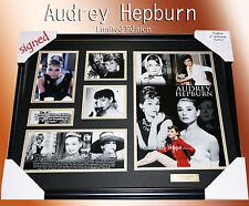 ON SPECIALS!! AUDREY HEPBURN MEMORABILIA SIGNED FRAMED, LIMITED EDITION w/ COA