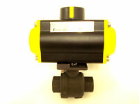 "Sharpe Sonic Torque 1/4"" Pneumatic Spring Return Actuator w/ Ball Valve"