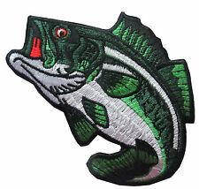 "#5068 4 1/2"" Sea Bass Fish Embroidery Iron On Applique Patch"