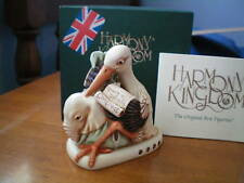 Harmony Kingdom Bundle of Joy V1 Stork Event Pc Blue MarbleResin Box Figurine Sg
