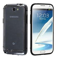 For Samsung Galaxy Note II 2 TPU CANDY Gel Flexi BUMPER Case Black Clear