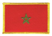Marokko Aufnäher Flaggen Fahnen Patch Aufbügler 8x6cm
