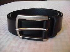 """CALVIN KLEIN BLACK LEATHER BELT SIZE SMALL VGUC 24"""" TO 29"""""""