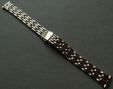 New ROWI Made in Germany 14mm Gold Tone Bracelet Ladies Dress Watch Band $39.95