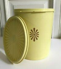 ♦ Ancienne Boite Tupperware Soleil Jaune Avec Couvercle Vintage