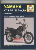 Yamaha XT125 SR125 (1982-2002) Haynes Service Shop Manual Book XT SR 125 SE CB07