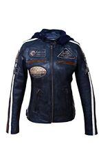 Blousons bleus longueur taille pour motocyclette femme