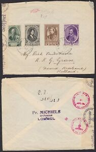 Belgium 1941 War stamps used on WWII Censored mail LOMMEL to Netherlands...A6015