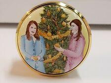 Rare Halcyon Days Exclusive Box Happy Christmas Sarah 2004 Eugenia & Beatrice