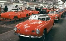 Volkswagen Karman Ghia, VW Factory Assembly Line, Refrigerator Magnet, 40 MIL