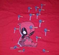 XL Red Ladies Deadpool T-shirt -Marvel Womens tee  Tshirt New