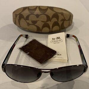 COACH HC7003 KRISTINA 9010/T3 Silver/Gradient Women's Aviator Sunglasses 59mmEUC