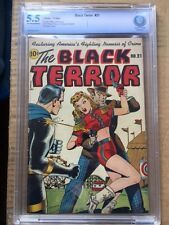 BLACK TERROR #21 CBCS FN- 5.5; OW-W; Schomburg cvr!
