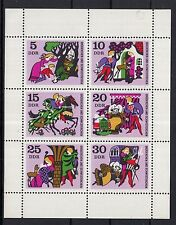 8017 ) East Germany 1970 MNH ** sheetlet: Fairy Tales: Little Brother and Sister