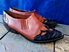 ELLEMENNO High Heels Line Dance Laredo Scroll COWBOY BOOTS Womens Shoes Sz 8