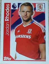 214 Jordan Rhodes MIDDLESBROUGH 2016/2017 Topps Merlin Premier League sticker