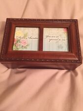 BN Wooden Musical Photo Jewellery Box Plays: Dear Auntie