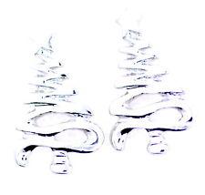 orecchini in argento con albero di Natale con stella in cima