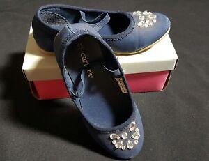 Girls Carter's Alessa Navy Rhinestone Shoes Size 11