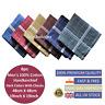 100% Cotton Mens Gents Handkerchiefs Hankies Large 6pcs Dark Colour 48cm(19inch)