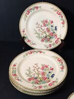 "Set of 4 MZ Altrohlau Czechoslovakia Indian Tree Pattern 9-3/4"" Dinner Plates"